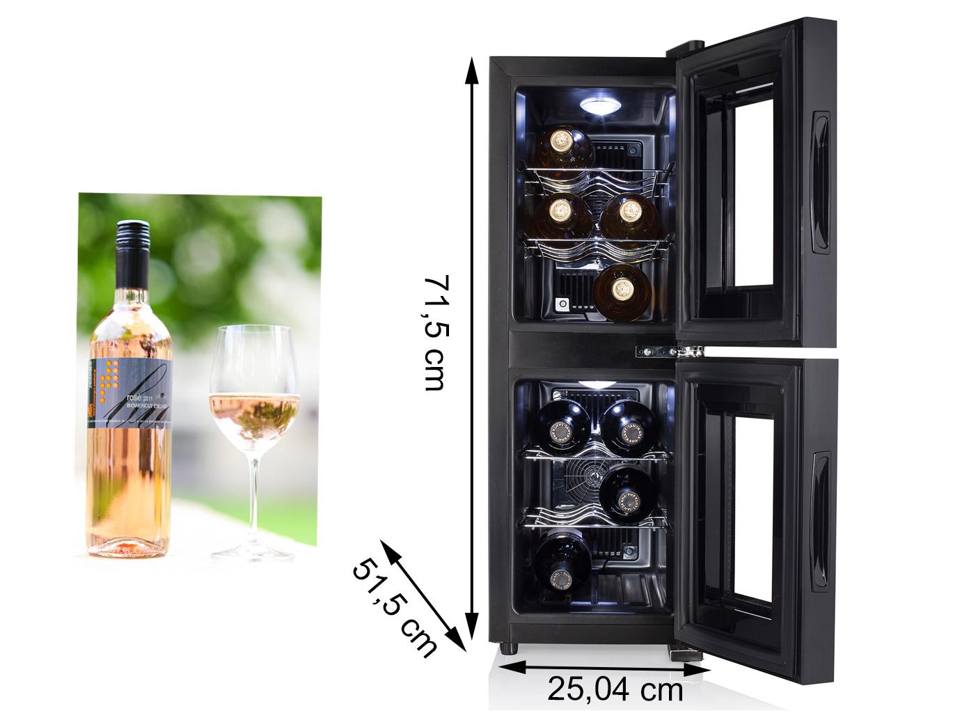 weink hlschrank 2 zonen f r 12 flaschen weinklimaschrank weintemperierschrank ebay. Black Bedroom Furniture Sets. Home Design Ideas